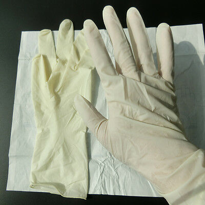 1/5/10/20/50 Pairs Pre-Powdered Sterile Latex Surgical Gloves