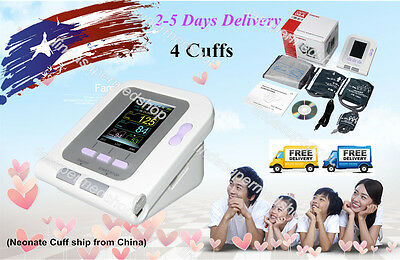 US LCD Digital Blood Pressure Monitor,Software,(Adult,Child,Infant,Neonate) Cuff