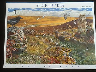 2003 ARCTIC TUNDRA  POSTAGE  STAMPS Face $ 3.70 SC# 3802  MNH Pane of  10