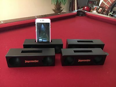 Jagermeister Mobile Wood Amplifier speaker For Cell Phone - 2016 LOT OF 4
