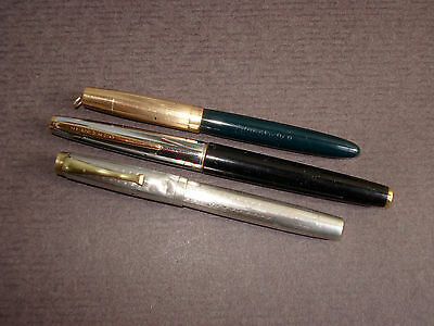 Lot de  3 Stylo-Plumes Anciens   WATERMAN , EDACOTO - Vintage Fountain Pens