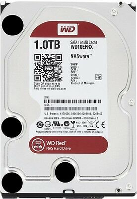 "Western Digital WD Red WD10EFRX 1TB 3.5"" SATA3.0 6.0Gb/s NAS Hard Drive Internal"