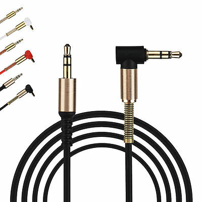 3.5mm Jack Audio Cable Male To Male 90 Degree Right Angle Flat Aux Cable 1M Hot