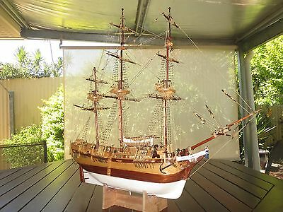 Hand made wooden ship model of Bounty