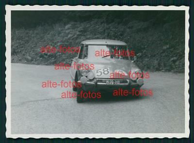 Foto Oldtimer Auto Car Rennen -  Semperit Ralleye 1966  Karl Obrecht Citroen DS