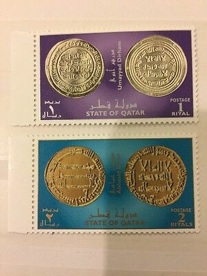 Qatar 2008 MNH Stamp Set Islamic Silver And Gold Coins