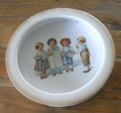 Antique Childs Feeding Dish Bowl Lustre Sides Childrens Music Band Germany ?