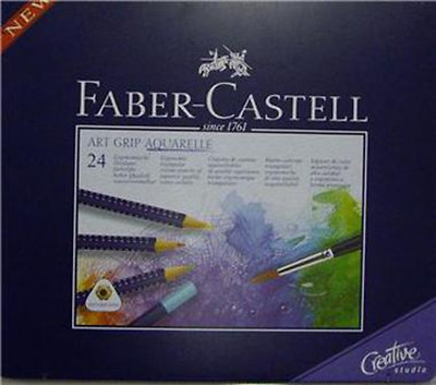 Faber Castell Aquarelle 24 Water Colour Pencils Tin Set