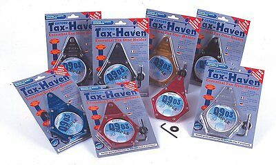 Oxford Motorcycle Motorbike Tax Haven Essential Tax Disc Holder - Carbon effect