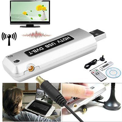 USB 2.0 FullHD DVB-T Digital TV Receiver HDTV Tuner Stick Antenna mit Remote HM