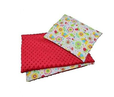SALE! SET RED baby Duvet / Blanket 140 x 100cm + Pillow 40 x 60 cm baby bedding