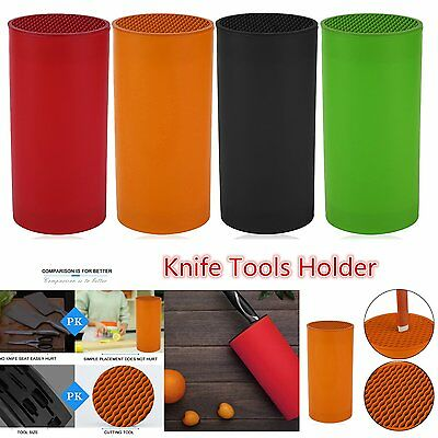 Plastic Knife Tools Holder New Design Kitchen Block Multifunctional Tube F7