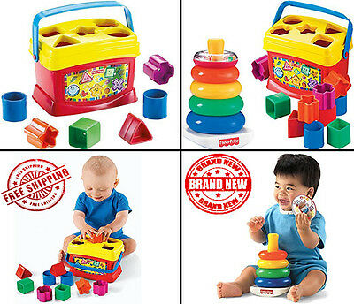 Fisher Price Babys First Blocks and Rock Stack Bundle Baby Developmental Play