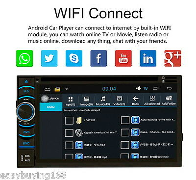 "2 DIN 6.2"" HD GPS Reproductor de Coche Navegación Android Quad-Cores DVD Player"