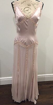 Pale Pink Silk/ Sequin Evening Gown Size 6/8 Bridesmaid/ Wedding/ Formal Nwot