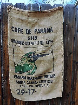 Cafe De Pananma Hartmann's Bird Protecting Coffee Bag Burlap Sack Advertisement