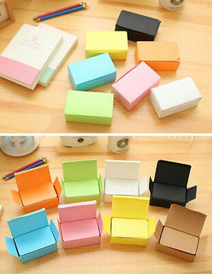 100PCS DIY Blank Greeting Mini multicolor Paper Card Gift Craft Message