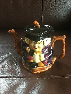 Vintage Shorter & Sons hand painted double sided teapot Staffordshire