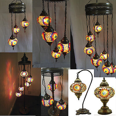 Turkish Moroccan Mosaic Light Tiffany Glass Desk - Wall - Floor - Hanging Lamp
