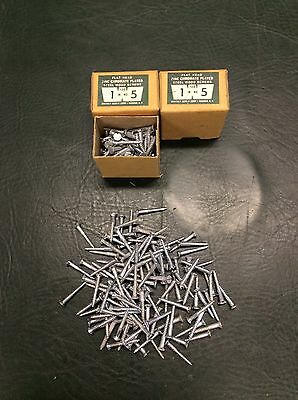 "2 Whitney Screw Co. Flat Head Zinc Chromate Plated Steel Wood Screws 1"" No.5 NOS"
