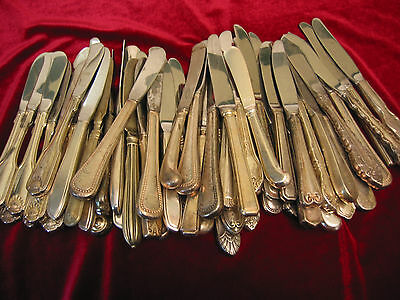 Silverplate Butter Spreader Lot of 75 Hotel Restaurant Use or Craft Flatware