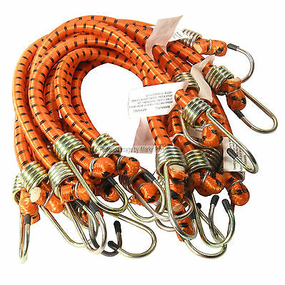 """10 PK Heavy Duty 18""""  x 1/2"""" Dia Thick Bungee Cords Tie Down Cord Strap"""