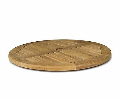 Wooden Round Lazy Susan - Grade A Teak - Garden Outdoor Tabletop Turntable
