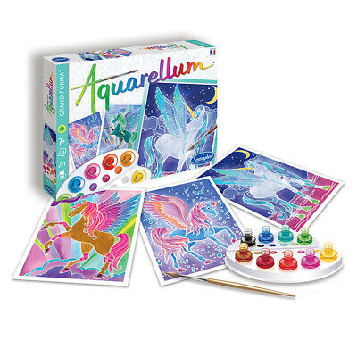 Aquarellum Painting By Numbers, Pegasus - Painting Activities for Kids
