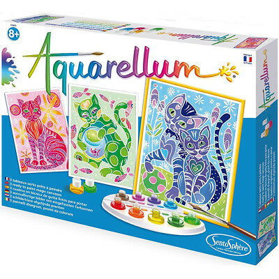 Aquarellum Painting By Numbers, Cats - Painting Activities for Kids