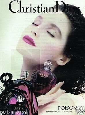 Publicité Advertising 1991 Parfum Eau de Toilette Poison Christian Dior