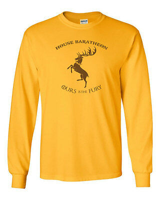 203 House Baratheon Long Sleeve Shirt stag game castle thrones sigil vintage new