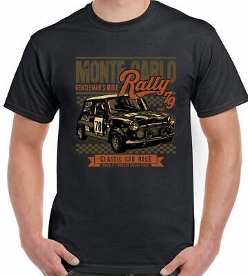 Mini Race Monte Carlo Rally - Mens Funny Car T-Shirt Cooper