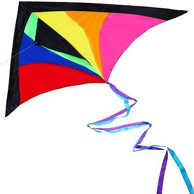 HIGH QUALITY Huge Colorful Kite For Kids Adults Best Easy Flyer LONG FLYING LINE