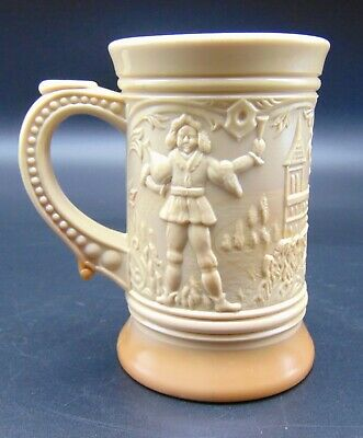 Indiana Tumbler and Glass Greentown Chocolate Brown Milk Stein Antique Slag