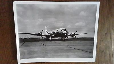 Photo Originale Des Annees 50 Avion Aeromaritime Dc6 De La Cie U.a.t