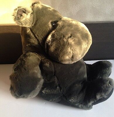 TOy SOFT HIPPO HIPPOPOTAMUS PLUSH STUFFED ANIMAL DOLL MADE IN ISREAL