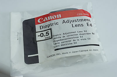 NEW Genuine CANON Dioptric Adjustment Lens ED (-0.5) CZ6-2990 Viewfinder Diopter