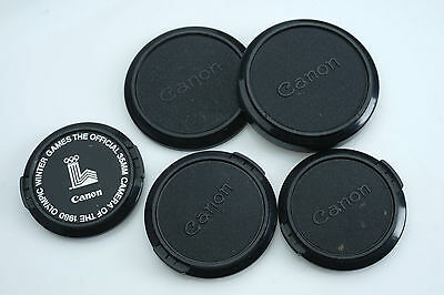Vintage CANON FD Lens Caps 1980s Olympic Games 52mm 55mm Slip-On 60mm B62
