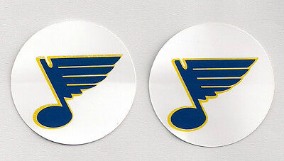 Early 1980s St Louis Blues NHL Team Logo Decal Stickers Lot of (2)