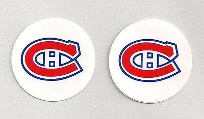 Early 1980s Montreal Canadiens NHL Team Logo Decal Stickers Lot of (2)