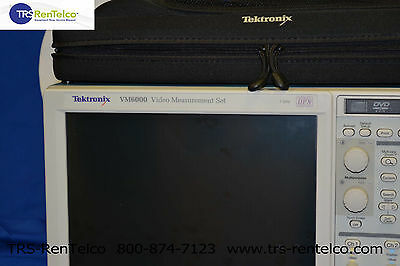 TEKTRONIX VM6000A AUTOMATED VIDEO MEASUREMENT SET **Updated options**