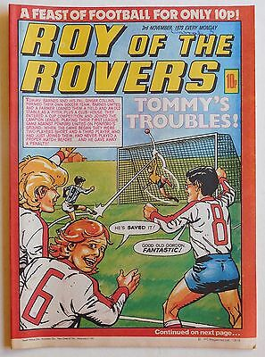 ROY OF THE ROVERS Comic - 3rd November 1979