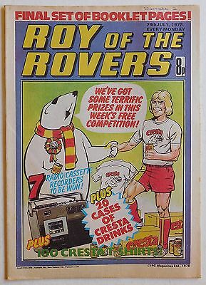 ROY OF THE ROVERS Comic - 29th July 1978