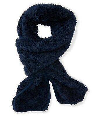 NWT Aeropostale Kids Boy's Fuzzy Warm Soft Scarf Size: One Size Navy Blue