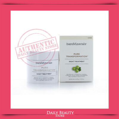Bareminerals Pure Transformation Night Treatment 4.2g 0.15oz NEW FASTSHIP