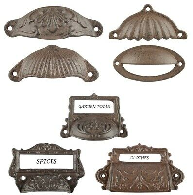 Cup Pull Cabinet Handle Door Drawer Pulls Rustic Cast Iron
