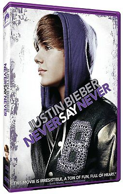 New: JUSTIN BEIBER - Never Say Never DVD