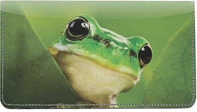 Frogs Leather Checkbook Cover