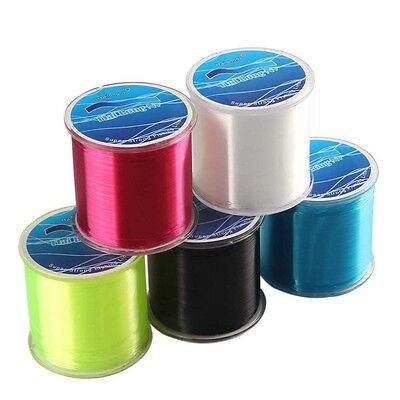 500M Nylon Braided Fishing Line Super Strong Dyneema Choose Color Outdoor Tool