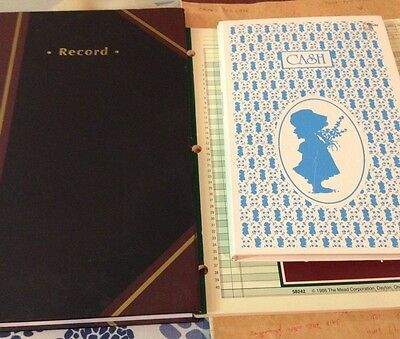 Staples Record Book, 300 Pages And 3 Vintage Record/ Account Books